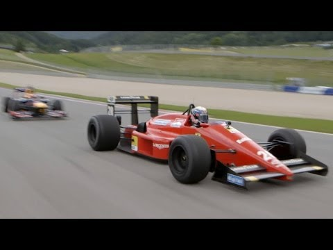 F1 sound - 1988 Ferrari V6 turbo & 2012 Red Bull V8