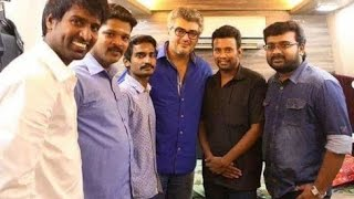 Soori meets Ajith alongwith his family on his Birthday