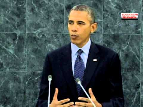 Barack Obama stern speech against Syria at UN