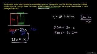 Naloga – osnovna linearna enačba