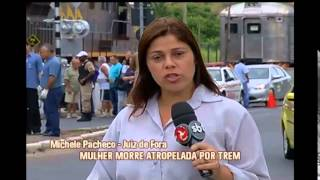 Mulher morre atropelada por trem em Juiz de Fora