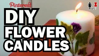 DIY Pressed Flower Candles, Corinne VS Pin #26