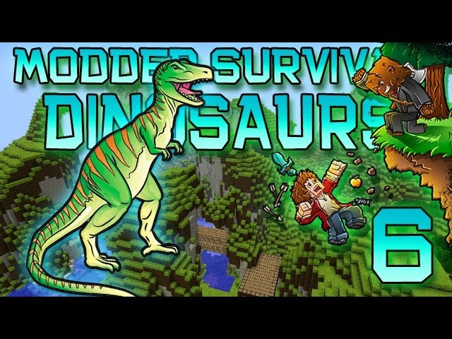 Minecraft: Modded Dinosaur Survival Let's Play w/Mitch! Ep. 6 - TYRANNOSAURUS IS GROWING UP!