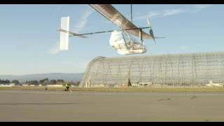 4K Dash PA Human Powered Airplane Flight Two at NASA 11/5/16