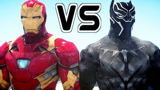 Iron Man vs Black Panther - Superheroes Battle