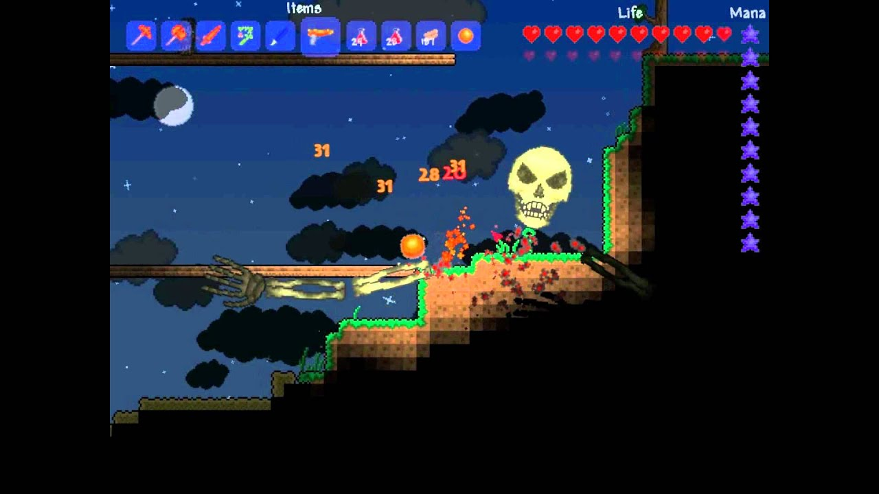 how to find skeletron in terraria