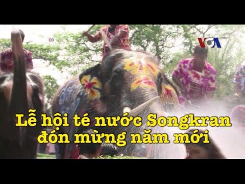 Lễ hội té nước Songkran đón mừng năm mới
