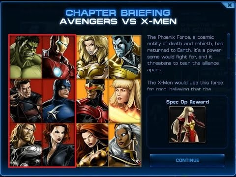 Marvel Avengers Alliance - Special Operation 3 - Avengers vs. X-men (Avengers side)