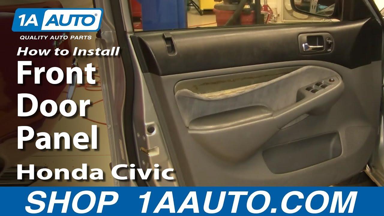 Service manual remove 2005 honda civic door trim 2001 for 2001 honda civic window trim