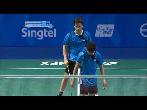 Kevin Sanjaya /Gideon  Vs. Angga /Ricky - Best Badminton Rally