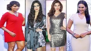 Sexy Sonakshi Sinha & Bipasha Basu at Marks & Spencer store launch in Bandra