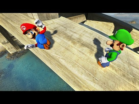 GTA 5 MARIO vs LUIGI Water Ragdolls Compilation (Euphoria Physics | Funny Moments)