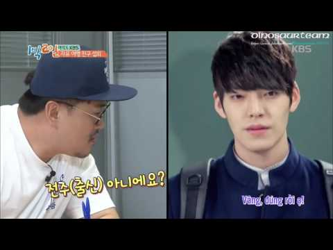 {Dinosaurteam}[Vietsub] 160814 Cha Tae Hyun Phone Call With Kim Woo Bin On 2 Days 1 Night (Cut)