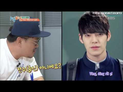 {Dinosaurteam}[Vietsub] 160814 Cha Tae Hyun Phone Call With Kim Woo Bin On 2 Days 1 Night (Cut)