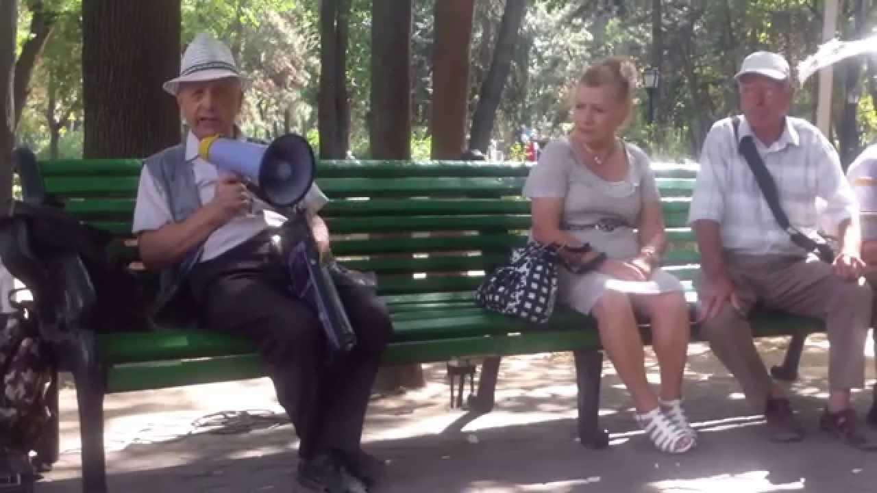 Discuții în parc despre #Ghimpu și #Filat