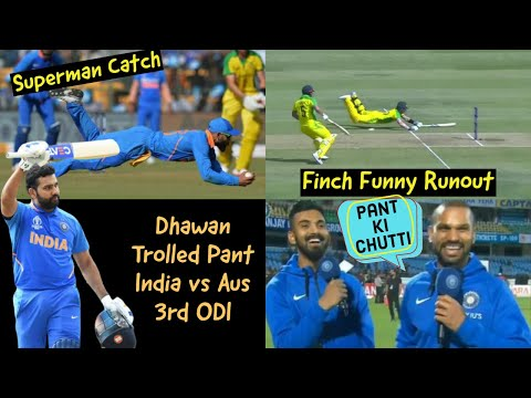 FINCH FUNNY RUNOUT 😂😂| Dhawan Making Fun of Pant | India Won the Series
