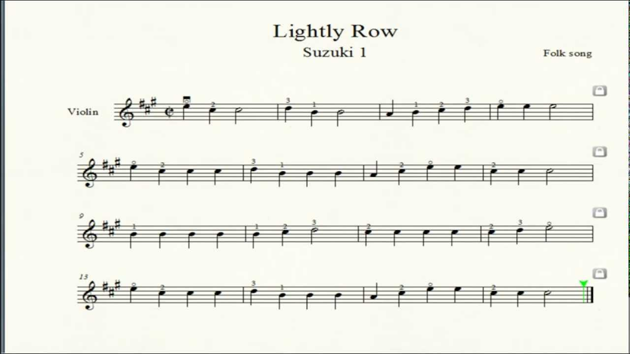 Suzuki Lightly Row Piano Sheet Music