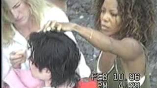 Antonio Lima en la grabación del clip de Michael Jackson