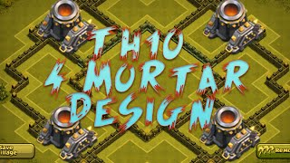 Clash Of Clans 4th Mortar TH10 Base!