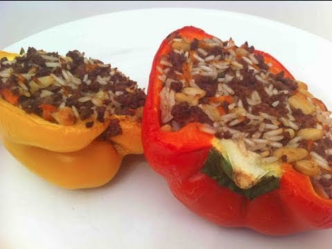 MEDITERRANEAN BEEF STUFFED PEPPERS