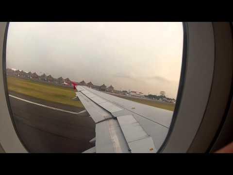 Takeoff Bali Denpasar to Kuala Lumpur Air Asia