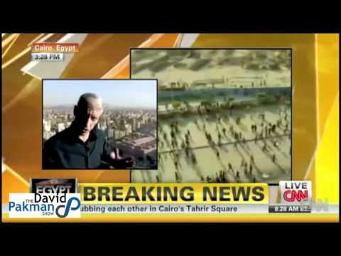 Anderson Cooper & Crew Attacked by Mubarak Crowd in Egypt