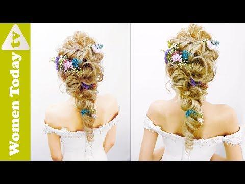 Kiểu Tóc Cô Dâu Cài Hoa Tươi Cho Bạn Gái Thích Lãng Mạn | Wedding Hairstyle - Flower Crown Hair.