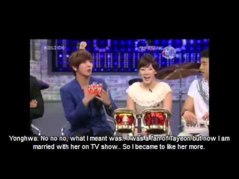 Yonghwa talking about seohyun