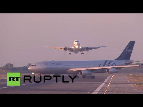 Impactante video: Pilotos rusos evitan una catástrofe aérea en Barcelona