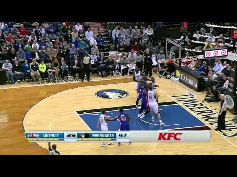 Detroit Pistons vs Minnesota Timberwolves | March 7, 2014 | NBA 2013-14 Season