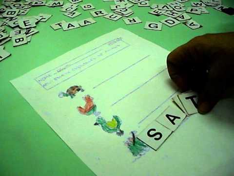 Atividades de escrita com alfabeto movel