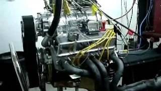 Blown SB Chevy 406 Engine 6-71 blower 700+HP
