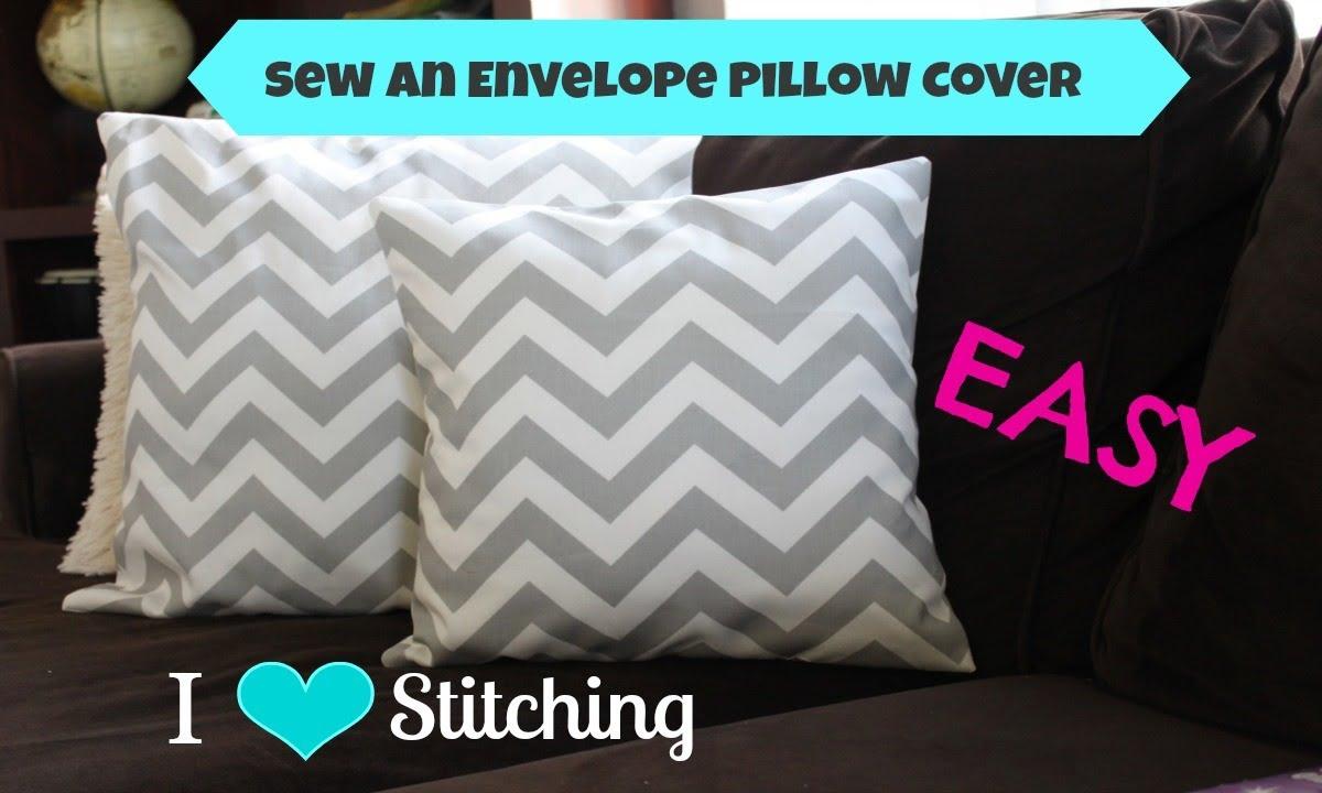 sew an envelope pillow cover beginner youtube. Black Bedroom Furniture Sets. Home Design Ideas