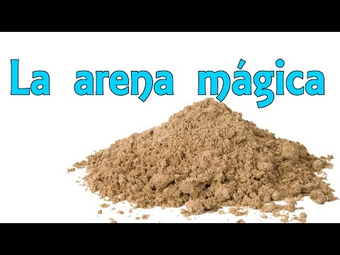 Cómo hacer arena mágica - Arena que no se moja (Experimentos Caseros)
