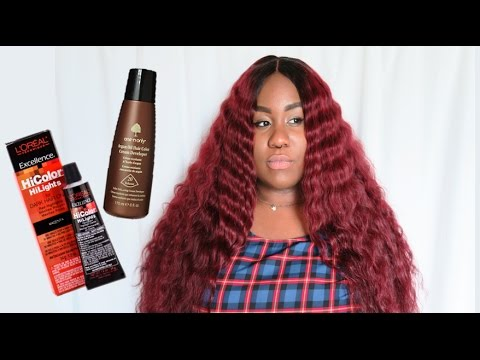 L'Oreal HiColor Magenta Hair Tutorial | NO BLEACHING