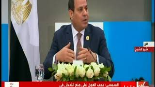 الرئيس السيسي: لدينا القدرة على التدخل