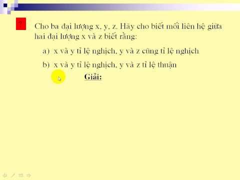 Bài toán về đại lượng tỉ lệ nghich