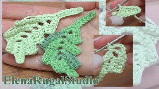 How To Crochet Two-Side Curved Leaf Work In Back Loops