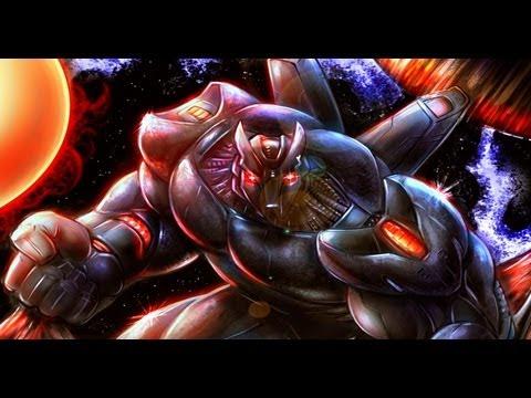 Speed Painting of Mech Warrior - Blackstone Comic Book Villain