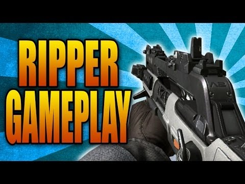 Call of Duty: Ghosts - RIPPER GAMEPLAY! New SMG & Assault Rifle Hybrid Gun (Devastation DLC Weapon)