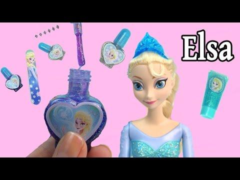 Disney Frozen Queen Elsa Sparkle Make-Up Set Nail Polish Body Glitter Dress Up Playset Cookieswirlc