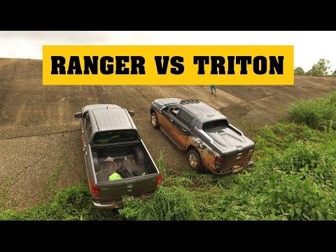 [Terocket] - So sánh Ford Ranger 2016 và Mitsubishi Triton 2016 thử tài với dốc trơn 35 độ
