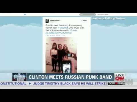 Hillary Clinton's picture with Pussy Riot goes viral