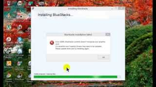 Fixed Bluestacks Error 25000 Without Updating Card Video