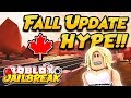 NEW FALL UPDATE HYPE Roblox Jailbreak NEW MAP AND STORE CHANGES ROBLOX LIVE
