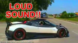 Pagani Zonda Cinque Sound Start, Rev And Accelerations