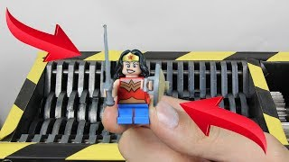 Experiment Shredding Lego Wonder Woman And Toys | The Crusher