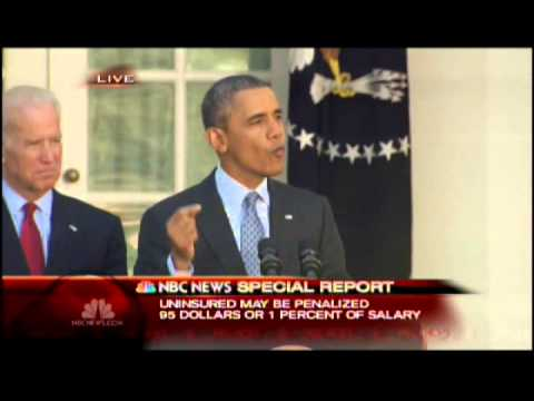 NBC News Special Report - Obama Remarks on Healthcare 4/1/2014