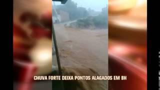 Chuva forte provoca alagamentos em diferentes regi�es de Belo Horizonte