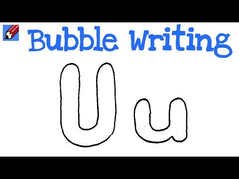 Drawing Lessons  How to Draw Bubble Letters